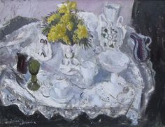 Anne Redpath  Still Life with Vase of Mimosa