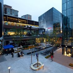 Sanlitun Village, the traditional Chinese shopping mall in Beijing, China