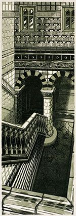 Linocut by Anne Desmet