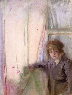 The Athenaeum - Model in the Artist's Studio (Edouard Vuillard - Edouard Vuillard, Gouache, Pastel, Artist Signatures, Japanese Prints, Global Art, Art Market, Impressionist, Painting & Drawing