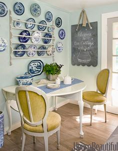 Blue and white plates!
