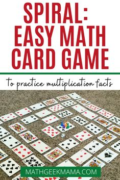Looking for an easy way to practice multiplication for kids? This game only takes two minutes to set up, but can be played again and again to challenge kids and increase multiplication fact fluency. Plus, you can adapt it to work on other skills as well! #mathgame #mathcardgame #homeschoolmath #mathfacts #easymathgame Easy Math Games, Printable Math Games, Math Card Games, Fun Math, Learning Multiplication Facts, Multiplication For Kids, Math Facts, Math Fractions, Maths