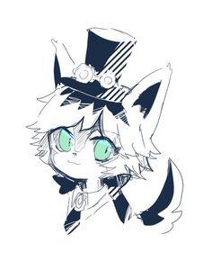Anime Drawings Sketches, Animal Drawings, Cool Drawings, Cute Characters, Fantasy Characters, Joseph, Identity Art, Cute Art, Chibi