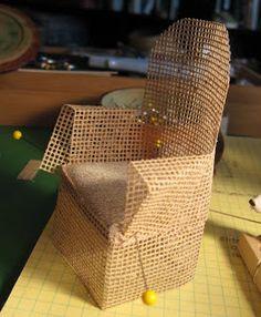 Wicker chair tutorial (Lots of tutorials on Casey's Minis Blog)