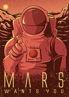 mars1 recruitment poster for mars - Google Search