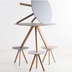 Copenhague CPH 20 pyöreä pöytä, 90 cm, tammi-musta