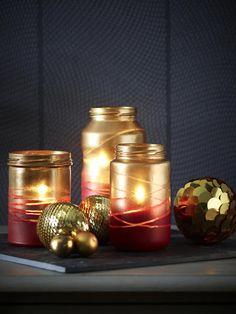 DIY-Tipp: Weihnachtliche Windlichter
