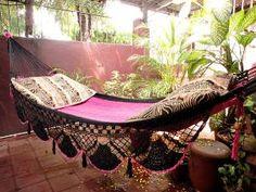handwoven BoHo hammock