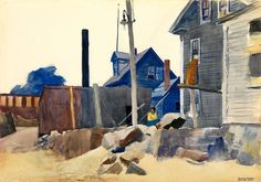 """House on the Shore"", Edward Hopper (1882-1967). #House #Hopper"