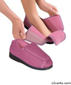 Womens Extra Extra Wide Width Adaptive Slippers - Diabetic   $49.98