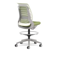 Allsteel Mimeo stool shown in Lime mesh, designed in partnership with Bruce Fifield of Studio Fifield, office furniture, office chair, seating, #MeetMimeo