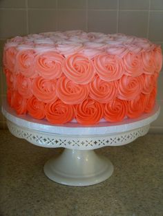 except in purple! Danish Bakery, French Bakery, Ombre Cake, Buttercream Icing, 21st Birthday, Birthday Ideas, Birthday Cake, Take The Cake, Bakery Cakes