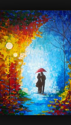 Togetherness Couple Art, Couple Painting, Painting Process, Contemporary Paintings, Colorful Paintings, Romantic Paintings, Paintings Of Couples, Acrylic Artwork, Art Night