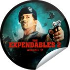 The Expendables 2 at Comic-Con!! Thanks for checking-in to The #Expendables2 at Comic-Con. This high-octane movie opens in theaters on 8/17. Be sure to check it out then. If you're at SDCC, you can redeem a collectible cling from the Lionsgate booth. Supplies are limited. Share this one proudly. It's from our friends at Lionsgate. #Getglue #Stickers   ::)