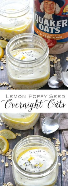 Lemon Poppy Seed Overnight Oats | www.motherthyme.com