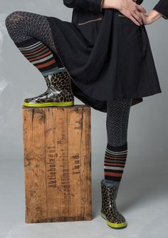 """""""Britt-Marie"""" rain boot in natural rubber – Denmark – GUDRUN SJÖDÉN – Webshop, mail order and boutiques   Colorful clothes and home textiles in natural materials."""