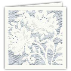 Desert Alencon Lace Folded Wedding Invitations