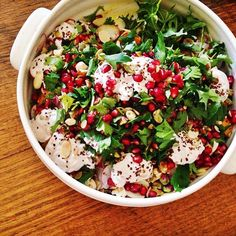 Roast pumpkin, herb and pomegranate salad - Lia Burton Nutrition