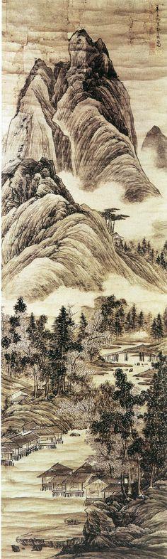 Zou Zhe(邹喆) ,  云峦水村图 南京博物馆藏