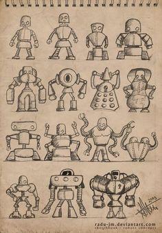 ROBOTZ Concepts 2 by radu-jm by Robot-drawing-club.deviantart.com on @DeviantArt