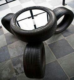 So many creative ideas for a #ManCave table.. #Tire #table!