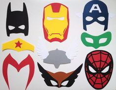 9 Superhero Photo Booth Props - Build Your Own Set Option - Super Superhero Photo Booth Props on Etsy, $26.00