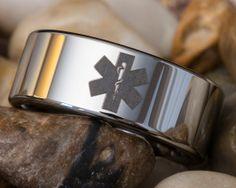 Star of life paramedic ring