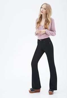 Clean Wash Flared Jeans   FOREVER21 - 2000135429