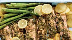 Recette de saumon câpres et citron | Foodlavie One Pot, Plaque, Pesto, Asparagus, Steak, Gluten Free, Dinner, Vegetables, Ethnic Recipes