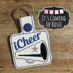 iCheer Keychain  Zipper Pull  Snap Tab by ItsComingUpRosie on Etsy