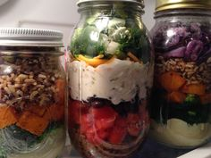 Salads in jars
