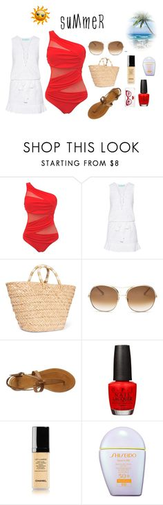 """""""Summer Summer Time"""" by perezbarrios on Polyvore featuring Melissa Odabash, Kayu, Chloé, Frye, OPI, Chanel, Shiseido and Kate Spade"""
