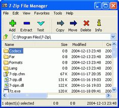 7-Zip es un compactador de archivos con un alto ratio de compresión.7-Zip es software libre!