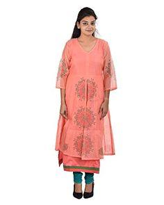 Damyantii Women's Plus Size Peach Color Kurta Damyantii http://www.amazon.in/dp/B013HUZVJO/ref=cm_sw_r_pi_dp_x_qwCQxb0C11N69