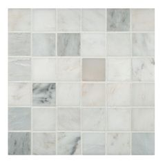 "MS International Arabescato Carrara 2"" x 2"" Grid Marble Mosaic Tile"