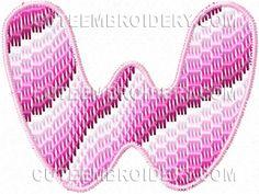 Free Embroidery Design: Bargello Font – Letter W