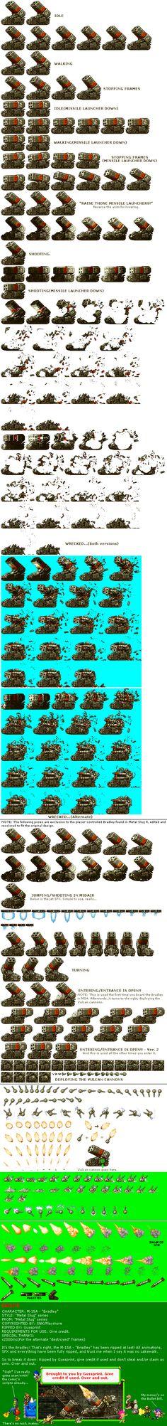 Secuencias de animación de videojuegos 2D antiguos