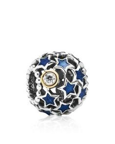 PANDORA Charm - Sterling Silver, Enamel & Cubic Zirconia Night Sky, Moments Collection | Bloomingdale's