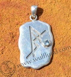 SELF CONFIDENCE, silver bind rune pendant, Ag 925