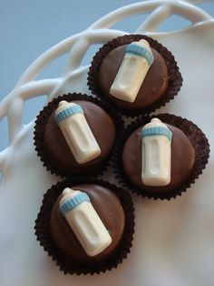 12 Milk Chocolate Baby Bottle Cookie Shower by rosebudchocolates, $24.00
