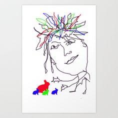 Magic man Art Print by sladja - $17.68