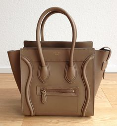 Celine Micro luggage bag, Camel/Taupe smooth leather $3000