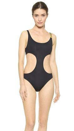 Moschino Cutout One Piece Swimsuit