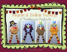 Pilgrim & Indian Turkeys: A Thanksgiving Craft