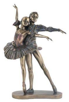 "9.75"" Perfect Partner Ballet Dancer Statue Sculpture Dance Ballerina Figurine"
