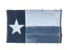 Texas Flag, Denim Flag, denim, jeans, Lone Star State, handcrafted, denim flag, patched denim, patches, patchwork, denim lovers, made in USA, Texas, Lone Star Flag, Republic of Texas, Texas State Flag About this listing: Texas State Flag Wall Art / Wall Hanging handcrafted from denim jeans in