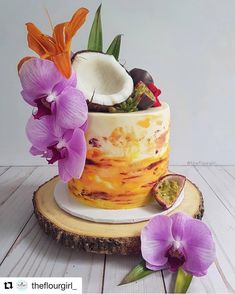 Hawaii Cake, Chocolate Cake Designs, Adult Birthday Cakes, Summer Cakes, Crazy Cakes, Brownie Cake, Cake Decorating Techniques, Girl Cakes, Cake Art