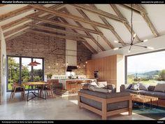 Kuchnia w starej stodole - wizualizacje koncepcji projektu wnętrza przygotowana na konkurs Teka Inspiruje 2016