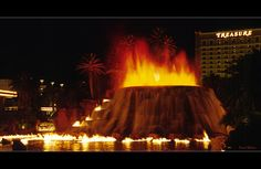 The volcanoes attraction at the mirage las Vegas
