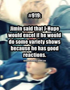 This is something I don't get. Jhope is legit the sunshine on Earth. Why doesn't he do more variety shows????